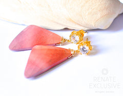 "Big Sunset Mookaite Jasper Earrings ""NYC Sunset"" - Handmade Jewelry - Renate Exclusive - 3"