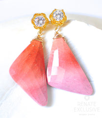 "Big Sunset Mookaite Jasper Earrings ""NYC Sunset"" - Handmade Jewelry - Renate Exclusive - 4"