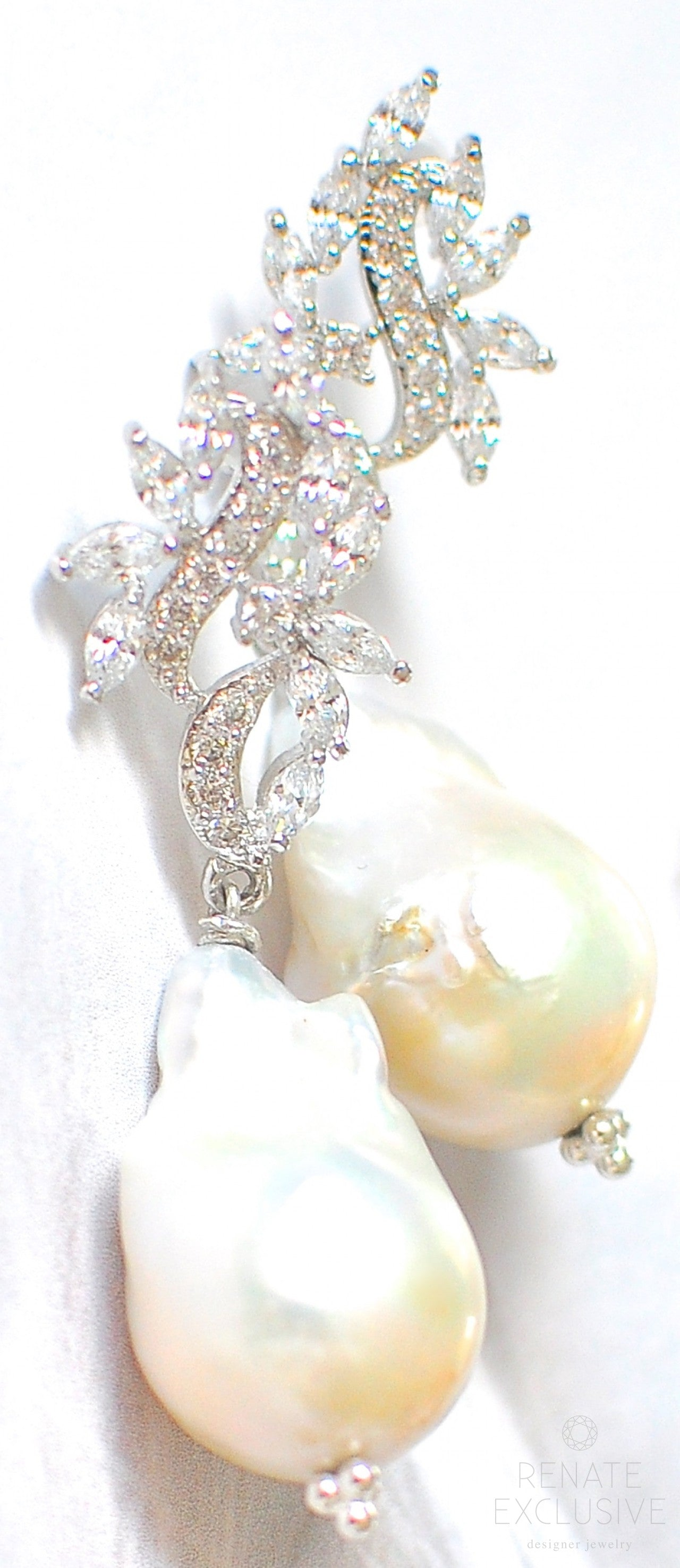 gemstone jewelry renate pin handmade luxury with baroque beauty earrings giant pearl