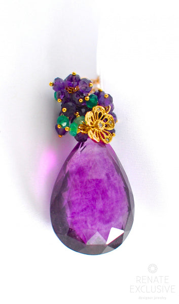 "Luxury Purple Fluorite Necklace ""My Queen"" - Handmade Jewelry - Renate Exclusive - 1"