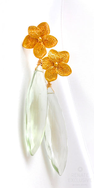 "Luxury Prasiolite Earrings ""Spring"" - Handmade Jewelry - Renate Exclusive - 1"