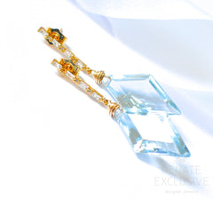 "Sky Blue Topaz Earrings ""Sky Blue Gorgeous"" - Handmade Jewelry - Renate Exclusive - 2"