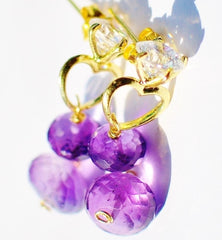 FALL in Love! Small is Cute! Cute Purple Amethyst Earrings - Handmade Jewelry - Renate Exclusive - 2