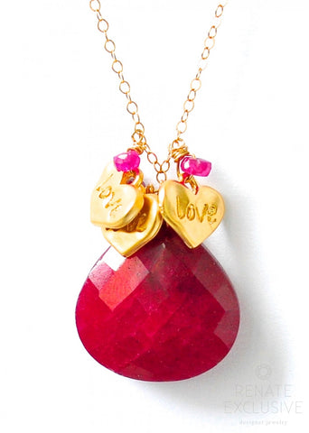 "Handmade Jewelry: Ruby Necklace ""Love"" - Handmade Jewelry - Renate Exclusive - 1"
