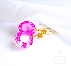 "Cute Pink Topaz Earrings ""Pink Moon"" - Handmade Jewelry - Renate Exclusive - 3"