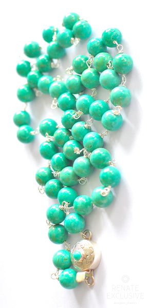 "Unique Sonoran Seafoam Turquoise Necklace ""Seafoam Beauty"""