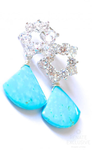 "Handmade Jewelry: Luxury Campitos Turquoise Earrings ""Shayna"" - Handmade Jewelry - Renate Exclusive - 1"