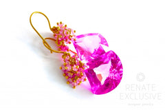"Unique Pink Topaz Earrings ""Blossom"" - Handmade Jewelry - Renate Exclusive - 6"