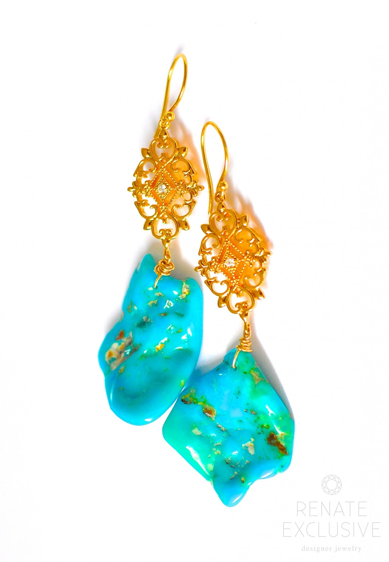 manassa earrings turquoise asp