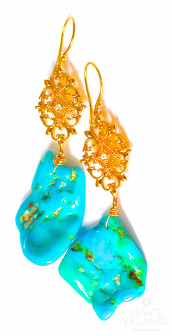 "Handmade Jewelry: Sleeping Beauty Turquoise Earrings ""Different Beauty"""