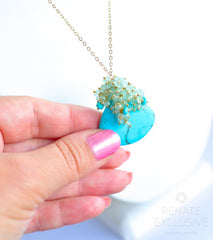 "Long Turquoise Necklace ""Summer Queen2"" - Handmade Jewelry - Renate Exclusive - 3"