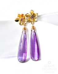 "Extraordinary Purple Quartz Earrings ""Winter Flower"" - Handmade Jewelry - Renate Exclusive - 4"