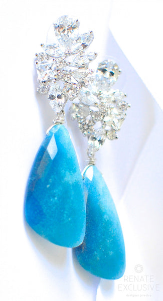 "Holiday Special! Blue Ombre Troilite Earrings ""Holiday Shine"" - Handmade Jewelry - Renate Exclusive - 1"