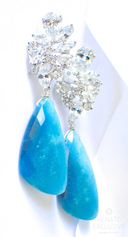 "Handmade Jewelry: Holiday Special! Blue Ombre Troilite Earrings ""Holiday Shine"" - Handmade Jewelry - Renate Exclusive - 1"