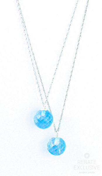 "Mother&Daughter Necklaces with Blue Topaz ""Mom&Me"" - Handmade Jewelry - Renate Exclusive - 1"