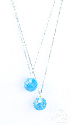 "Handmade Jewelry: Mother&Daughter Necklaces with Blue Topaz ""Mom&Me"" - Handmade Jewelry - Renate Exclusive - 1"