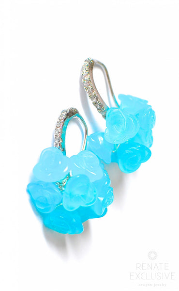 "Boom Boom Blue Turquoise Quartz Earrings ""Summer Boom Boom"""
