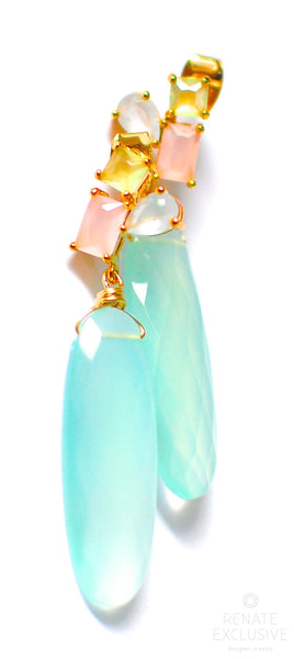 "Summer Pastel Color Earrings ""Cake Box"""