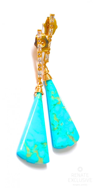 "Kingman Turquoise Earrings ""KingMan"""
