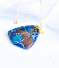 "HUGE Blue  Copper Turquoise Necklace ""Statement Woman"""