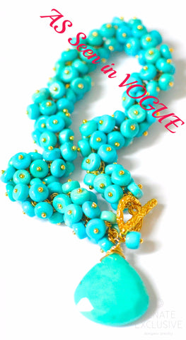 "Handmade Jewelry: Luxurious Mexican Nacozari Turquoise Bracelet ""Mexican Style"""