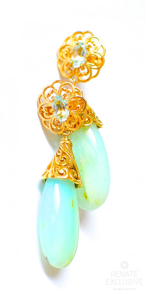 "Peruvian Opal Earrings ""Midsummer Beauty"""