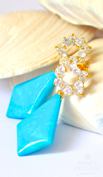 "Bold Nacozari Turquoise Earrings ""Festive Freya"""