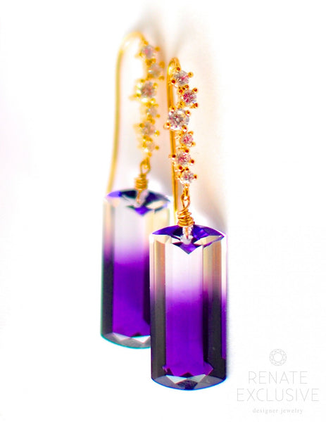 "Bi-Color Ametrine Earrings ""Savannah"" - Handmade Jewelry - Renate Exclusive - 1"
