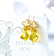 "African Lemon Quartz Earrings ""Suzanne"" - Handmade Jewelry - Renate Exclusive - 4"
