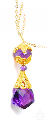 "Handmade Jewelry: Luxurious Purple Sapphire Necklace ""Dubai"""