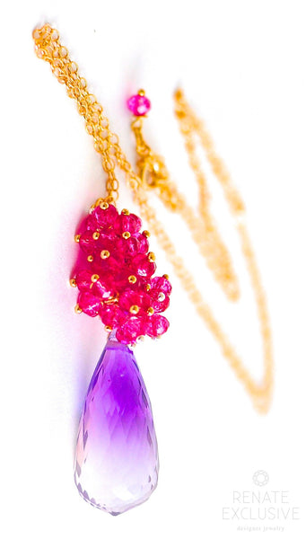 "Bi Color Ametrine Necklace ""Carolina"" - Handmade Jewelry - Renate Exclusive - 1"