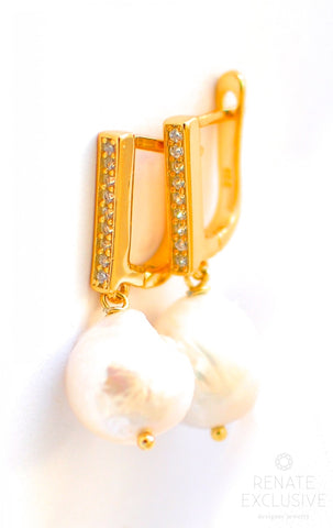 "Handmade Jewelry: Elegant Freshwater Pearls Earrings ""Elegance"" - Handmade Jewelry - Renate Exclusive - 1"