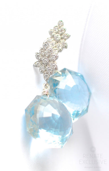 "Sky Blue Topaz Earrings ""Winter Sky"" - Handmade Jewelry - Renate Exclusive - 1"