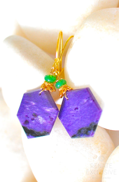 "Lovely Charoite Earrings ""Purple Apple"""