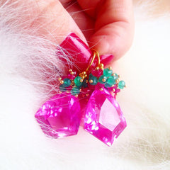 "Christmas Special! Pink Topaz Earrings ""Christmas Colors"" - Handmade Jewelry - Renate Exclusive - 5"