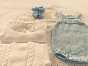 Spring/summer sleeveless knitted romper - made by order