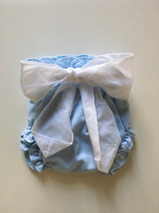 Diapers with tie