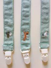 Load image into Gallery viewer, Pacifier clip with embroidery animal