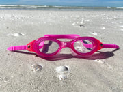 BROOKE BENNETT COLLECTION WATER BABIES GOGGLES | PINK/CLEAR