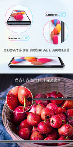 Bright Screen Gives HD view from more angles, and brighter, more vivid colors.