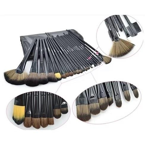 Denora Gray 24 Piece Makeup Brush Set