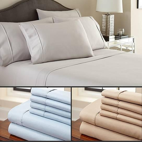 Bristol Mills 6-Piece Bamboo Sheet Set 2200 TC in 12 Colors Queen and King - nonstop value shop
