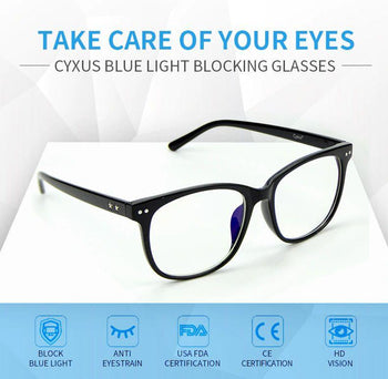 Cyxus Blue Light Blocking Filter Computer Glasses End Eye Strain Clear Lens Fashionable Unisex Eyewear for Men/Women - nonstop value shop