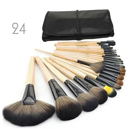 Denora Gray 24 Piece Makeup Brush Set - nonstop value shop