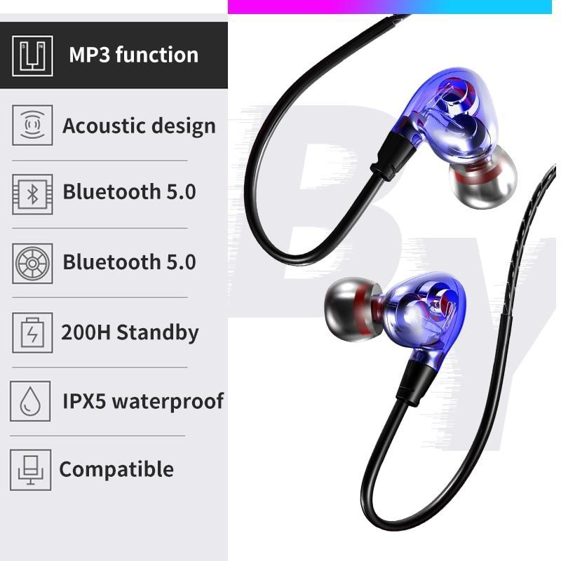 DLS X9 True Wireless Bluetooth Neckband Headphones with Mic for IOS, Android - nonstop value shop