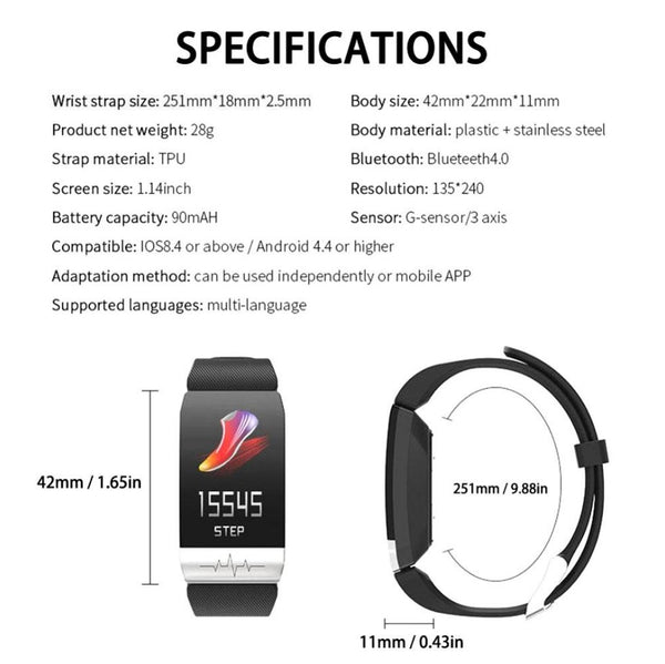 Q15 Sport Smart Bracelet Fitness Tracker Waterproof Blood Pressure Smart Band - nonstop value shop