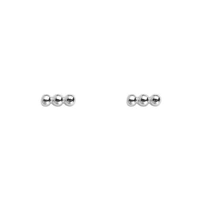 925 sterling zilver oorstekers  |  Triple Dot