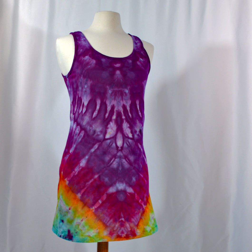 Favorite Tie Dye Tank Dress | Classic Rainbow Purple