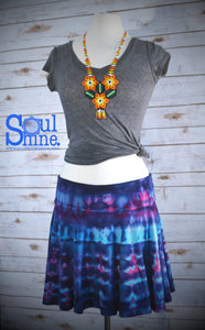 Tie Dye Spinner Skirt | Blue and Pink