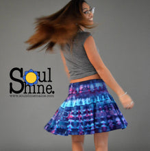 Load image into Gallery viewer, Tie Dye Spinner Skirt | Blue and Pink